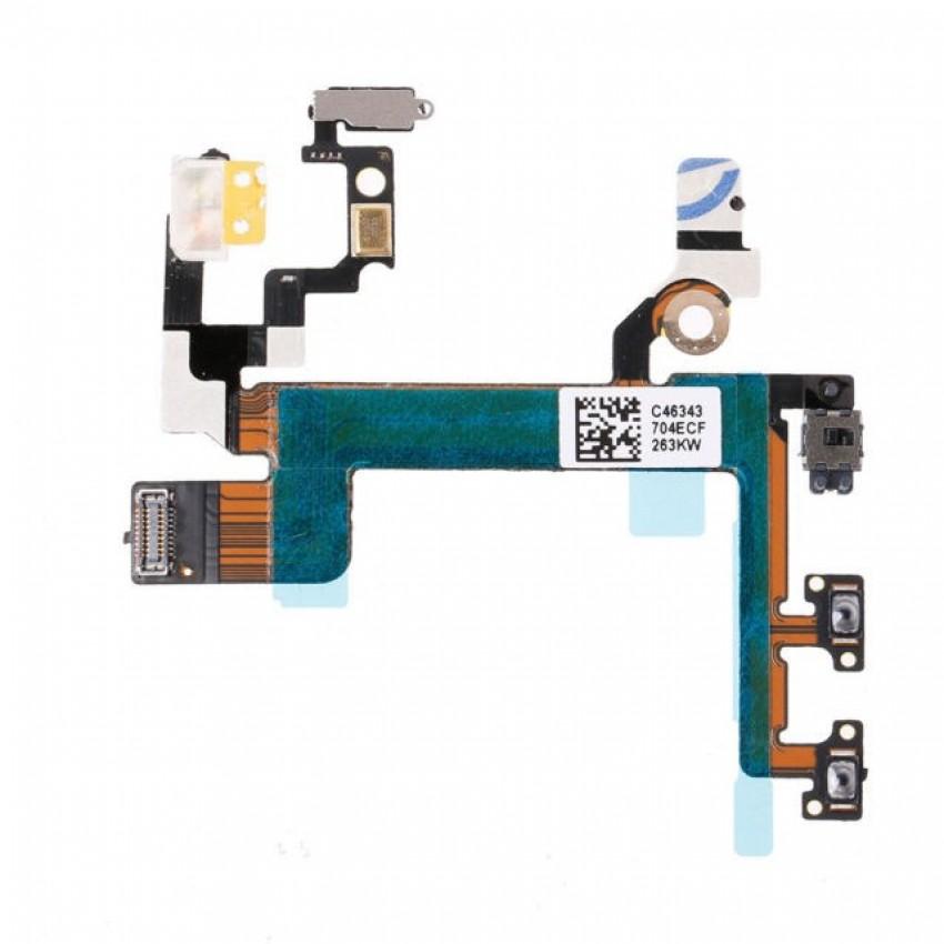 Lanksčioji jungtis Apple iPhone 5S on/off, mute, garso kontrolės ORG