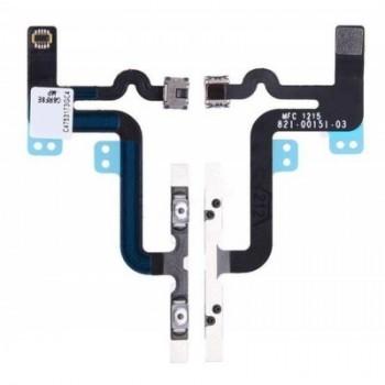 Lanksčioji jungtis Apple iPhone 6S Plus on/off, blykstės, mikrofono ORG