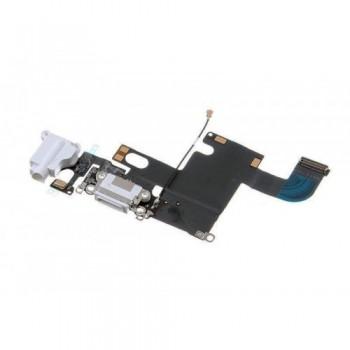 Lanksčioji jungtis Apple iPhone 6 audio ir įkrovimo kontaktų, su mikrofonu balta naudota ORG