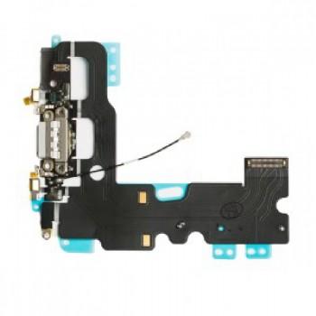 Lanksčioji jungtis Apple iPhone 7 įkrovimo kontaktų, su mikrofonu juoda naudota ORG