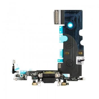 Lanksčioji jungtis Apple iPhone 8/SE 2020 įkrovimo kontaktų, su mikrofonu juoda ORG