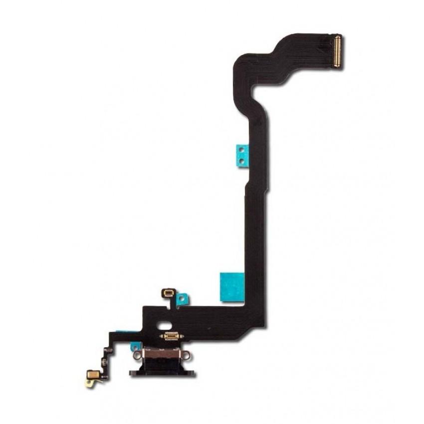 Lanksčioji jungtis Apple iPhone X įkrovimo kontaktų, su mikrofonu juoda HQ
