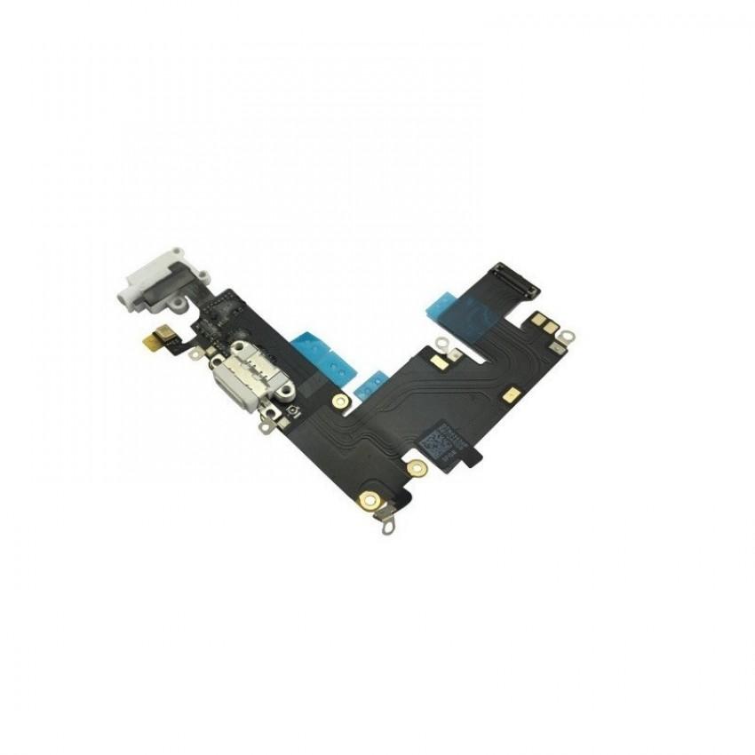Lanksčioji jungtis Apple iPhone 6 Plus audio ir įkrovimo kontaktų, su mikrofonu šviesiai pilka naudota ORG
