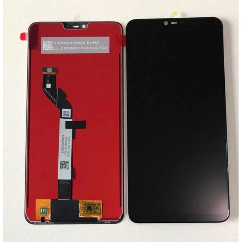 Ekranas Xiaomi Mi 8 Lite su lietimui jautriu stikliuku juodas HQ