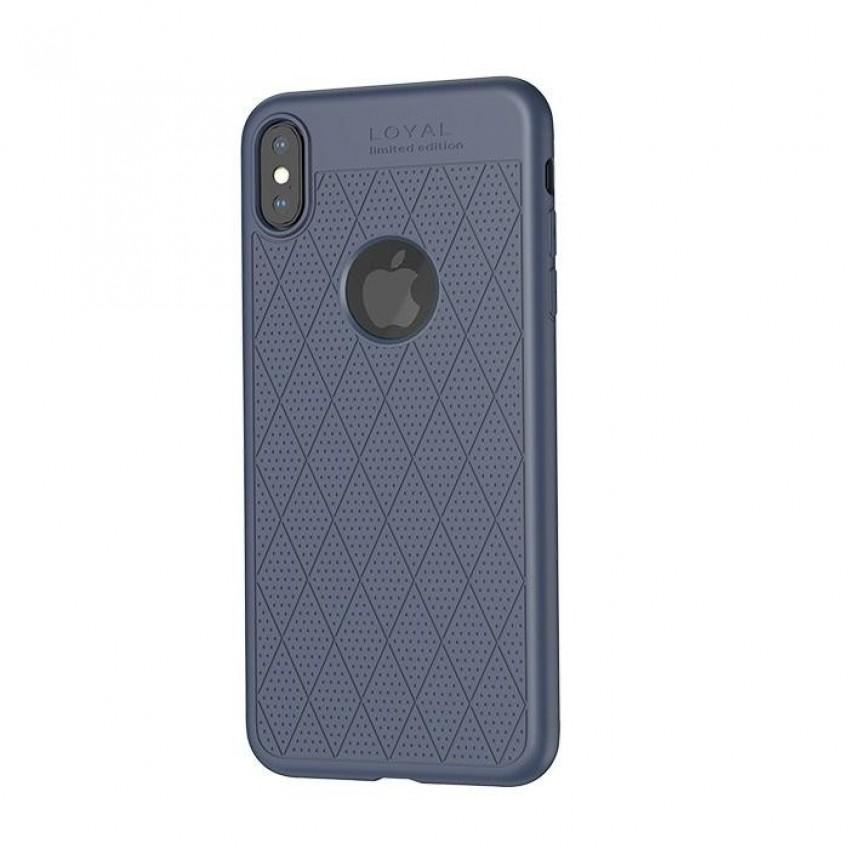 "Dėklas ""Hoco Admire Series"" Apple iPhone XS Max mėlynas"