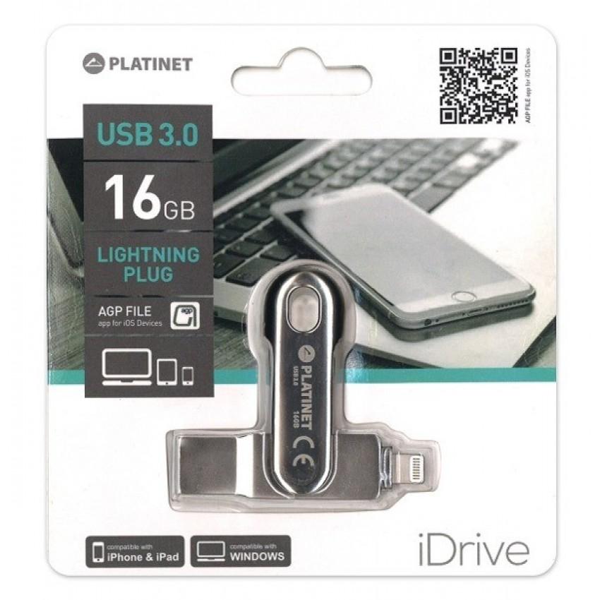 Atmintinė Platinet 16GB Lightning + USB 3.0
