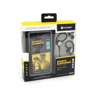 Armband case Platinet + HF 3,5mm black 4.7' - 5.0' (14x7,1cm)
