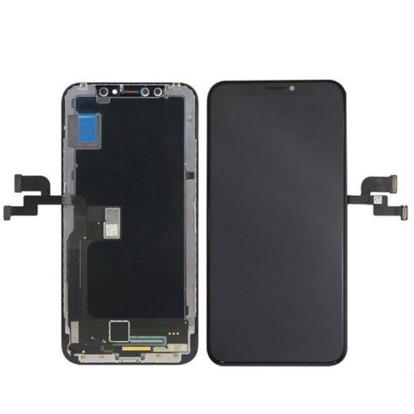 Ekranas iPhone XS su lietimui jautriu stikliuku OLED HQ