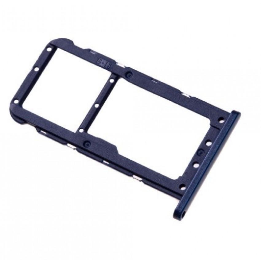 SIM card holder Huawei P20 Lite blue ORG