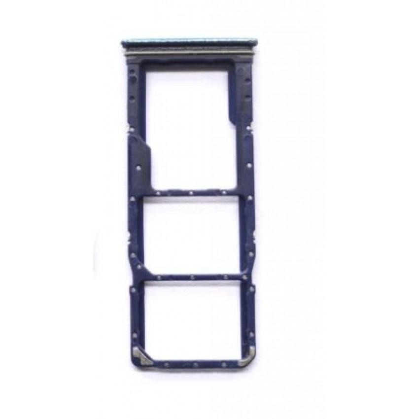 SIM card holder Samsung A920 A9 2018 blue ORG