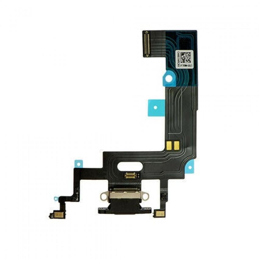 Lanksčioji jungtis Apple iPhone XR įkrovimo kontaktų, su mikrofonu juoda ORG