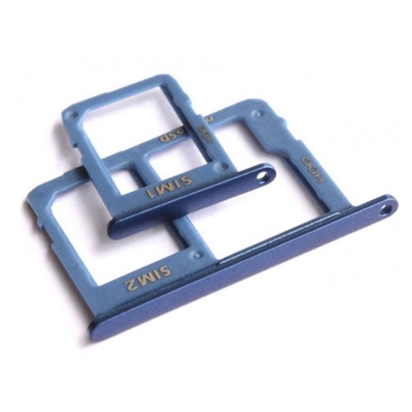 SIM card holder Samsung A605 A6+ 2018 (2 pcs) blue ORG