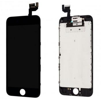 Ekranas iPhone 6S su lietimui jautriu stikliuku juodas Premium