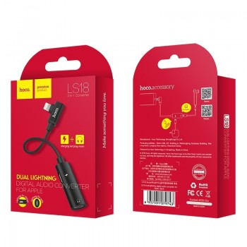 "Adapter Dual ""lightning"" HOCO LS18 red"