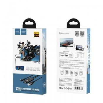 USB cable HOCO UA14 lightning to HDMI black 2M