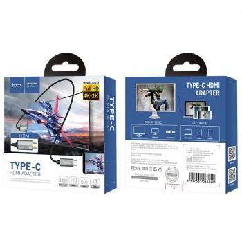 USB cable HOCO UA13 Type-C HDMI 1.8M gray