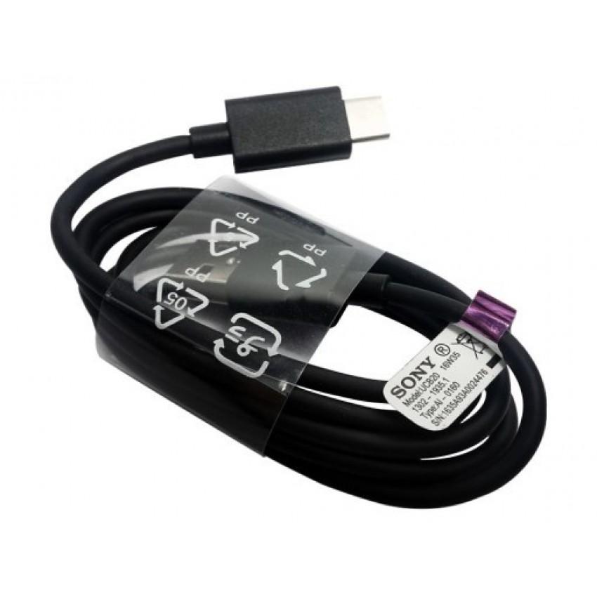 USB kabelis ORG Sony type-C (UCB20) juodas (1M)