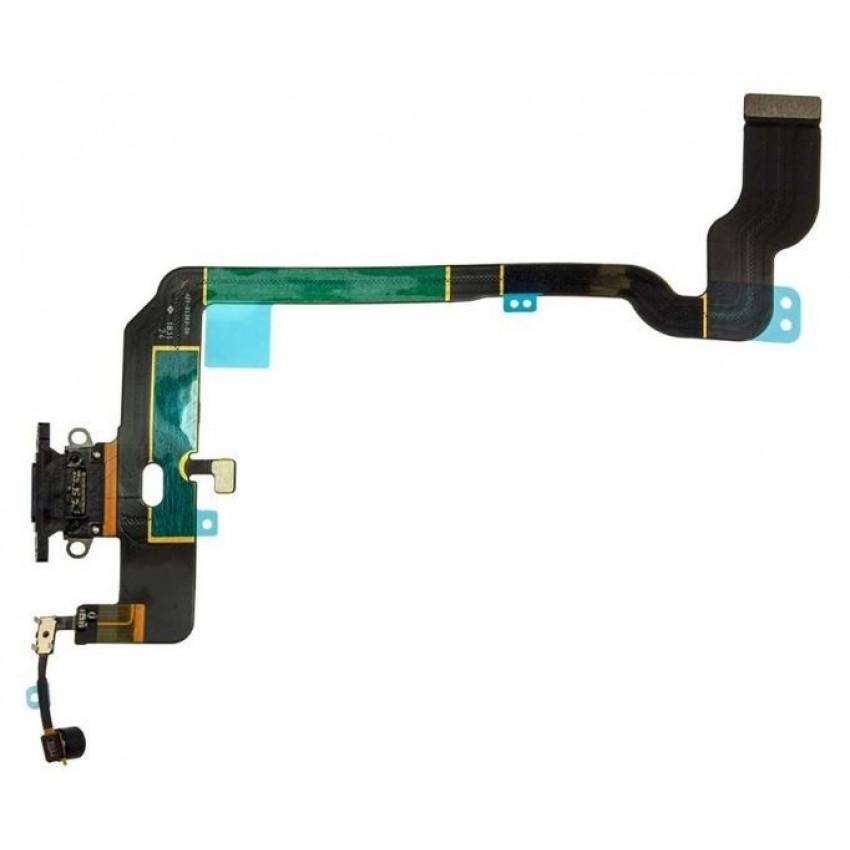 Lanksčioji jungtis Apple iPhone XS įkrovimo kontaktų, su mikrofonu juoda ORG