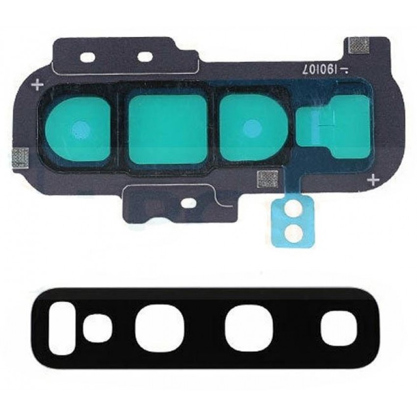 Samsung G973 S10 kameros stikliukas mėlynas (Prism Blue) ORG