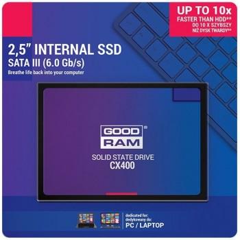 Hard drive SSD GOODRAM CX400 512GB (6.0Gb / s) SATAlll 2,5