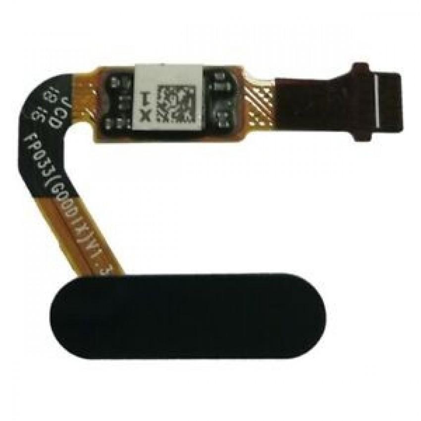 Lanksčioji jungtis Huawei P20/P20 Pro/Mate 10/Nova 2S/Honor V10 su juodu pirštų atspaudų jutikliu (fingerprint) ORG