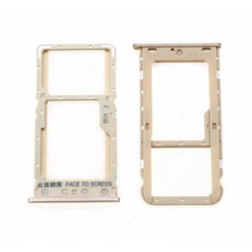 SIM kortelės laikiklis Xiaomi Redmi 6/6A auksinis ORG