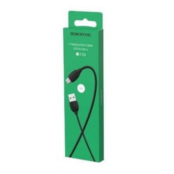 USB cable BOROFONE BX19 Benefit microUSB black 1m