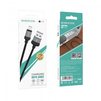 "USB cable BOROFONE BX28 Dignity ""lightning"" grey 1m"