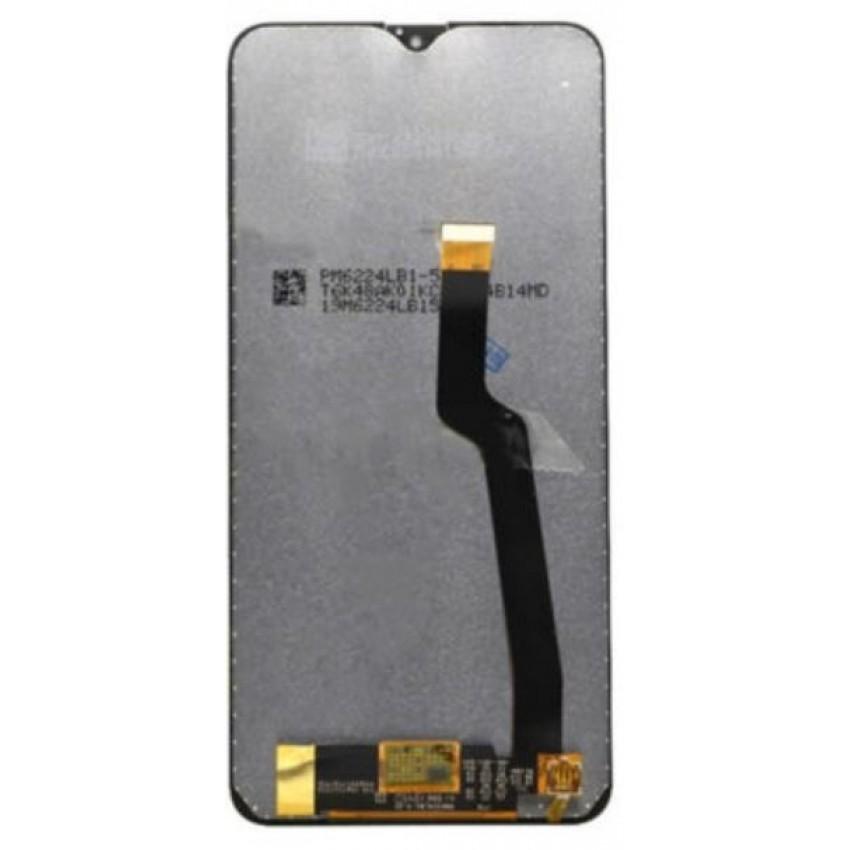 Ekranas Samsung A105 A10 su lietimui jautriu stikliuku juodas HQ