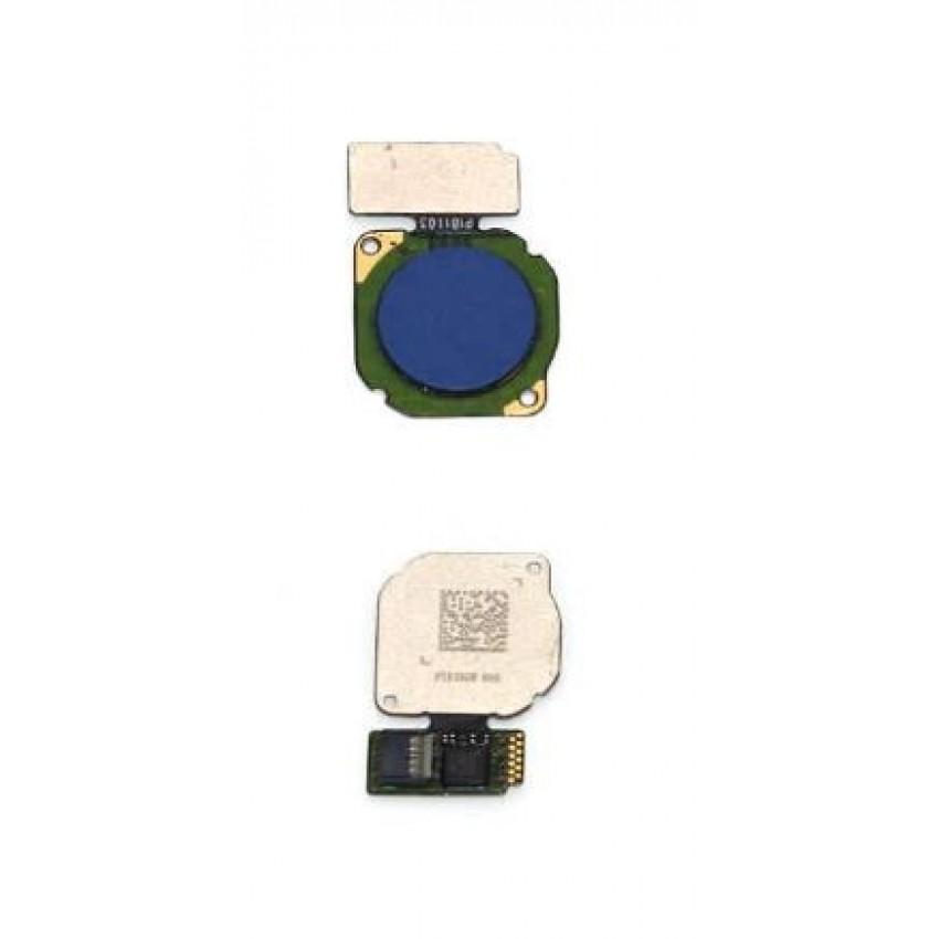 Lanksčioji jungtis Huawei P20 Lite/Nova 3E/Mate 10 Lite/P Smart/Honor 9 Lite/P Smart Plus/Mate 20 Lite su mėlynu pirštų atspaudų jutikliu (fingerprint) ORG