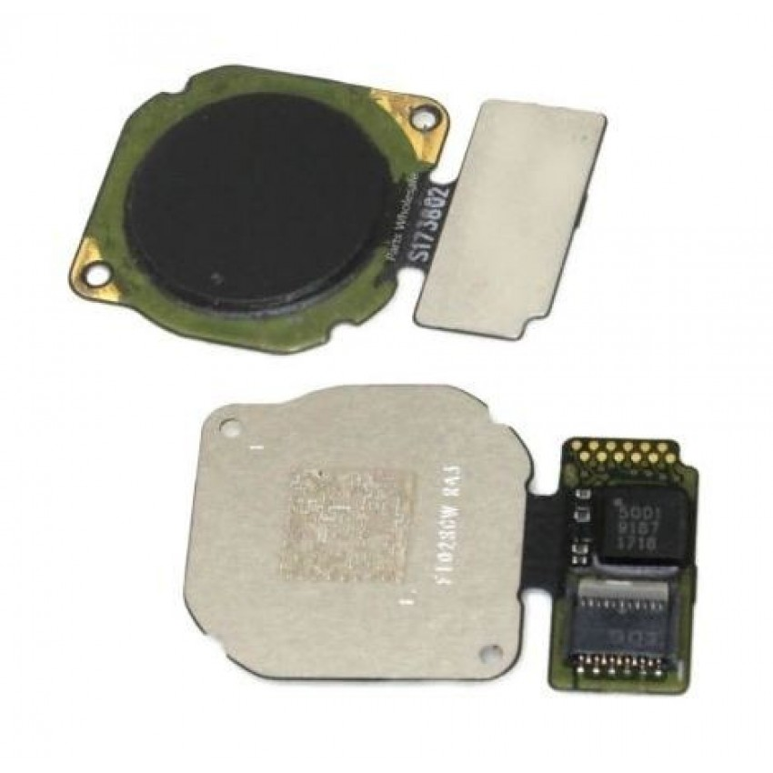 Lanksčioji jungtis Huawei P20 Lite/Nova 3E/Mate 10 Lite/P Smart/Honor 9 Lite/P Smart Plus/Mate 20 Lite su juodu pirštų atspaudų jutikliu (fingerprint) ORG