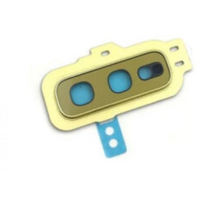 Samsung G970 S10e kameros stikliukas geltonas (Canary Yellow) ORG