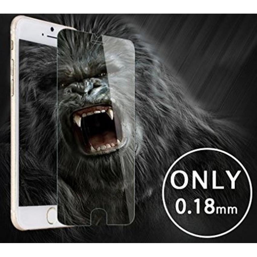 """LCD apsauginis stikliukas """"Gorilla 0.18mm"""" Apple iPhone 7 Plus/8 Plus baltas be įpakavimo"""