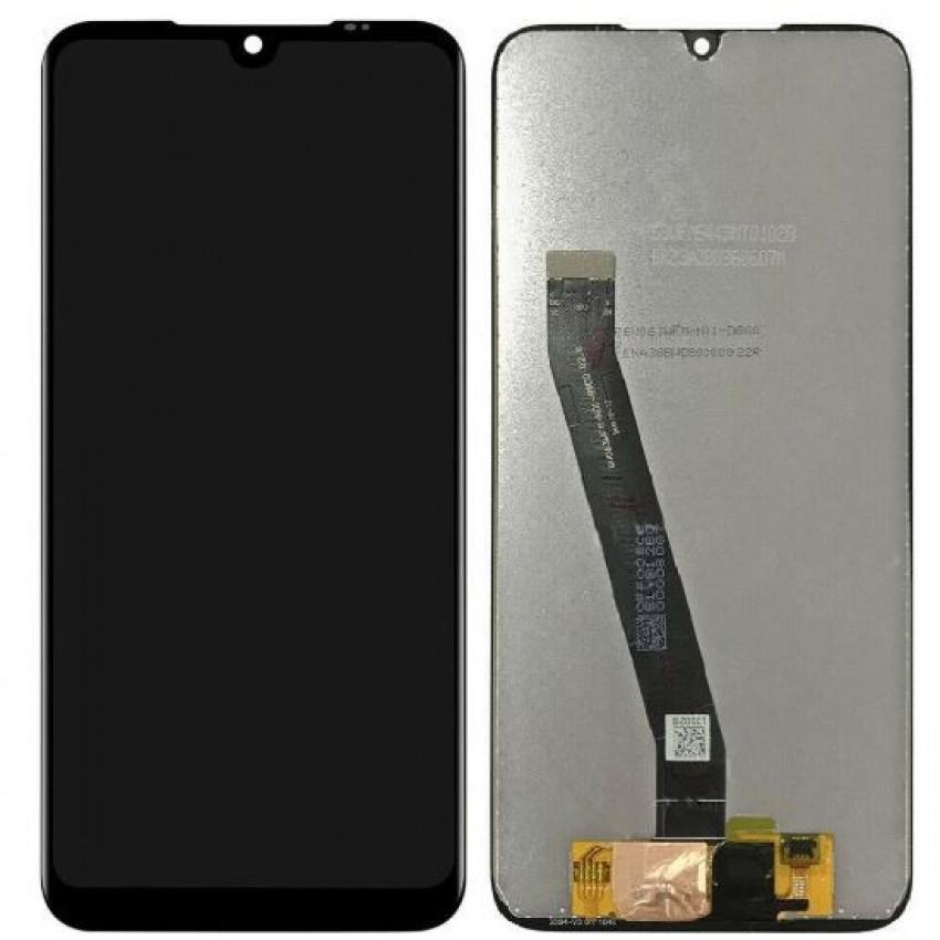 Ekranas Xiaomi Redmi 7 su lietimui jautriu stikliuku juodas HQ