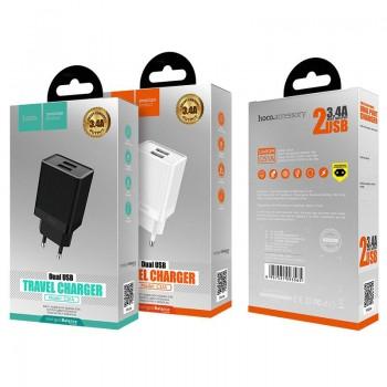 Charger HOCO C51A Prestige power Dual USB (5V 3.4A) white