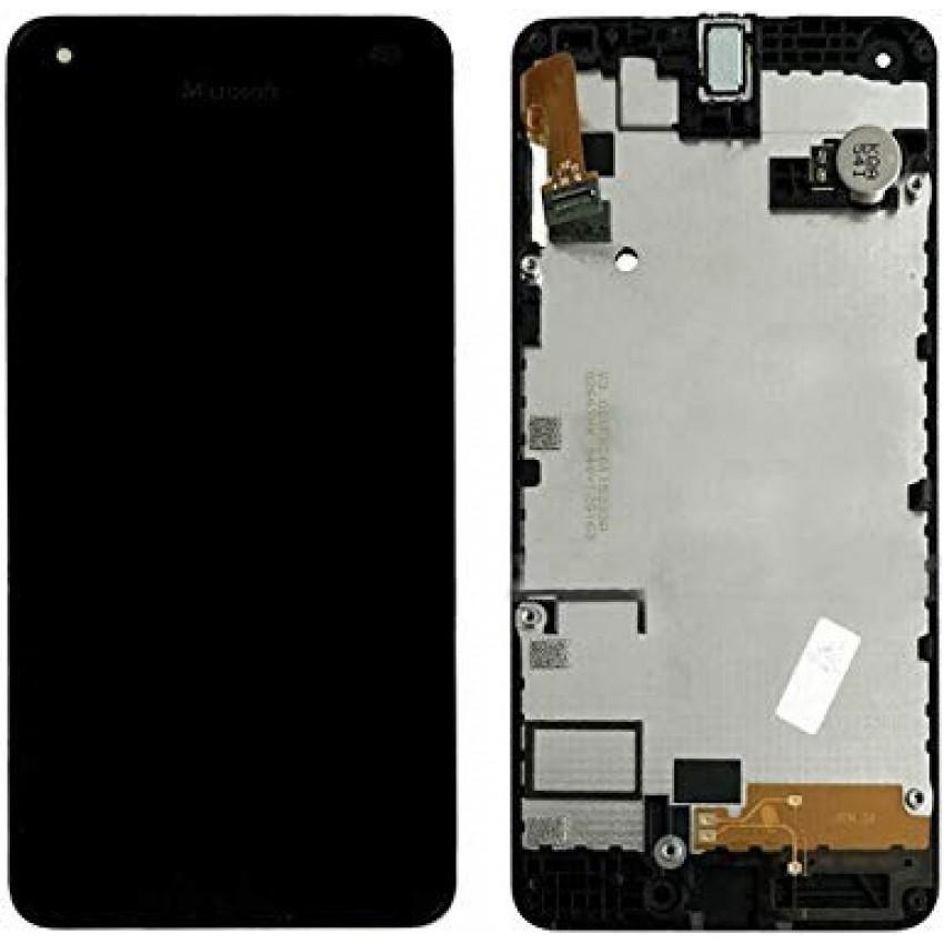 Ekranas Microsoft (Nokia) Lumia 550 su lietimui jautriu stikliuku ir rėmeliu originalus (used grade B)