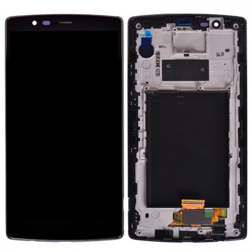 Ekranas LG H815 G4 su lietimui jautriu stikliuku juodas originalus (used grade B)
