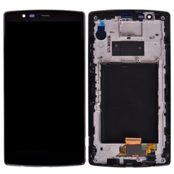 Ekranas LG H815 G4 su lietimui jautriu stikliuku juodas originalus (used grade C)