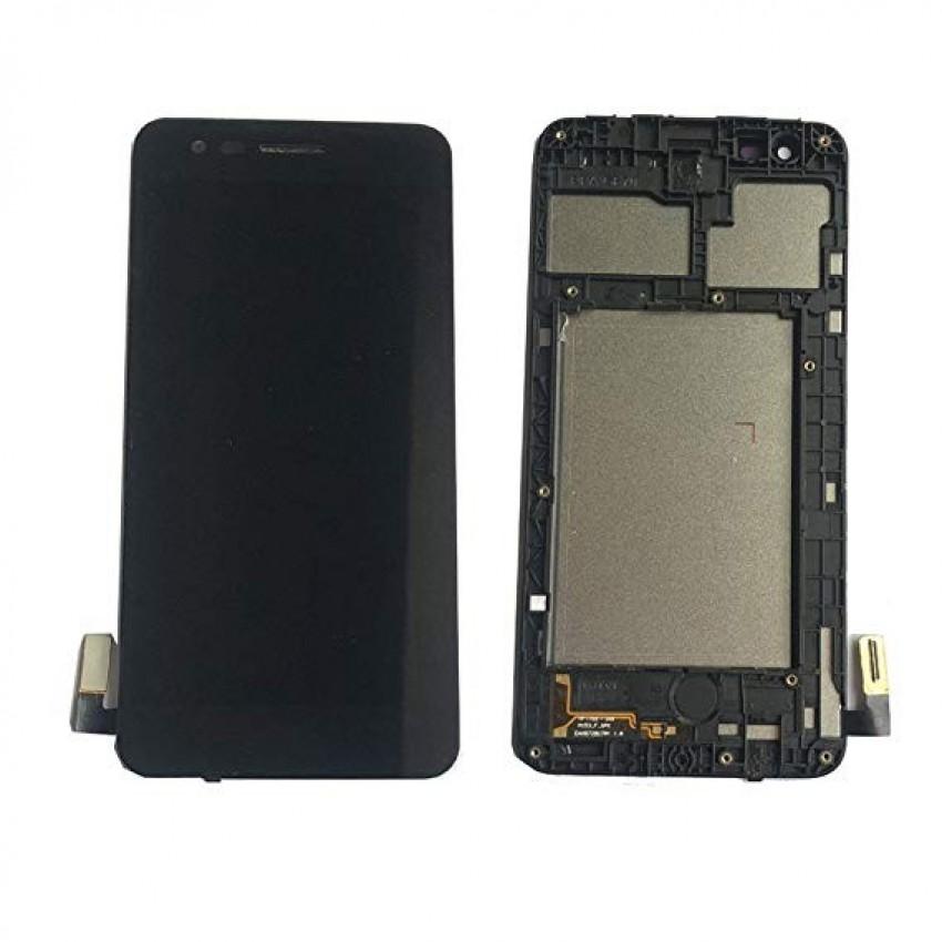 Ekranas LG M160 K4 (2017) su lietimui jautriu stikliuku juodas originalus (used grade C)