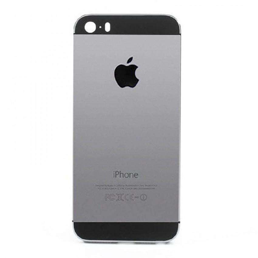 Galinis dangtelis iPhone 5S pilkas (space grey) originalus (used Grade B)
