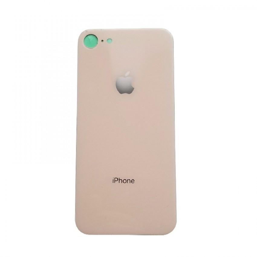 Galinis dangtelis iPhone 8 auksinis (bigger hole for camera) HQ