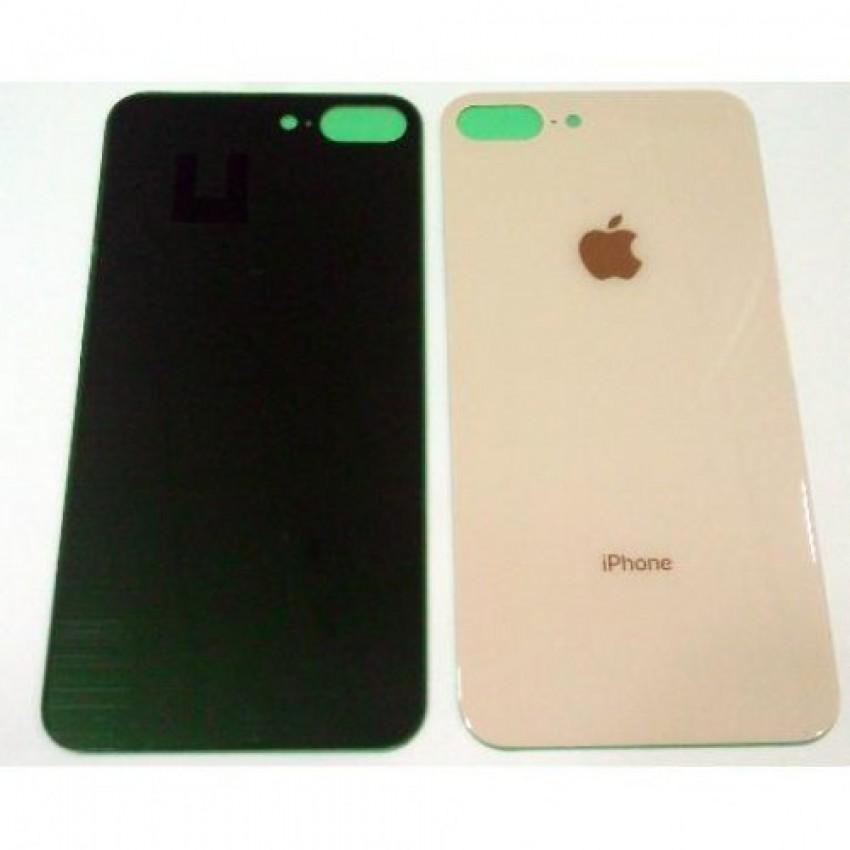 Galinis dangtelis iPhone 8 Plus auksinis (bigger hole for camera) HQ