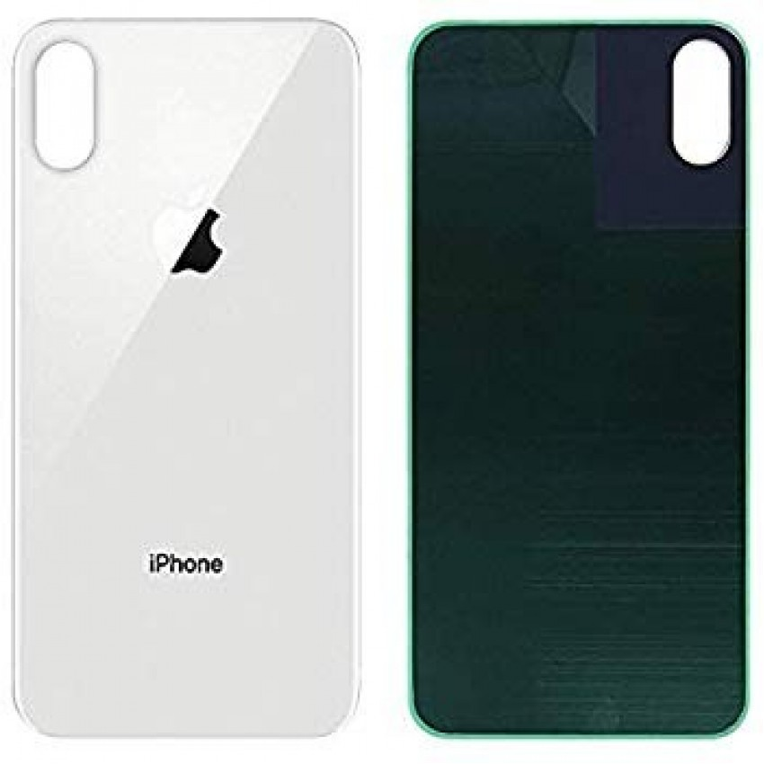 Galinis dangtelis iPhone XS Max sidabrinis (baltas) (bigger hole for camera) HQ
