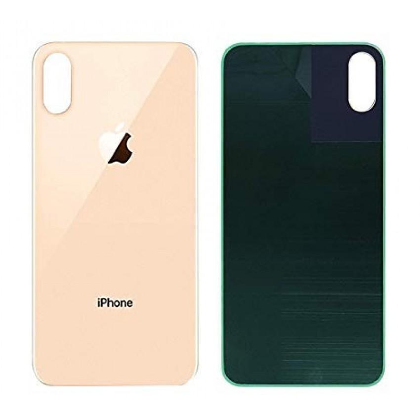 Galinis dangtelis iPhone XS Max auksinis (bigger hole for camera) HQ