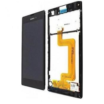 Ekranas Sony D5103 Xperia T3 su lietimui jautriu stikliuku su rėmeliu juodas originalus (service pack)