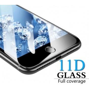 """LCD apsauginis stikliukas """"11D Full Glue"""" Samsung A207 A20S juodas be įpakavimo"""