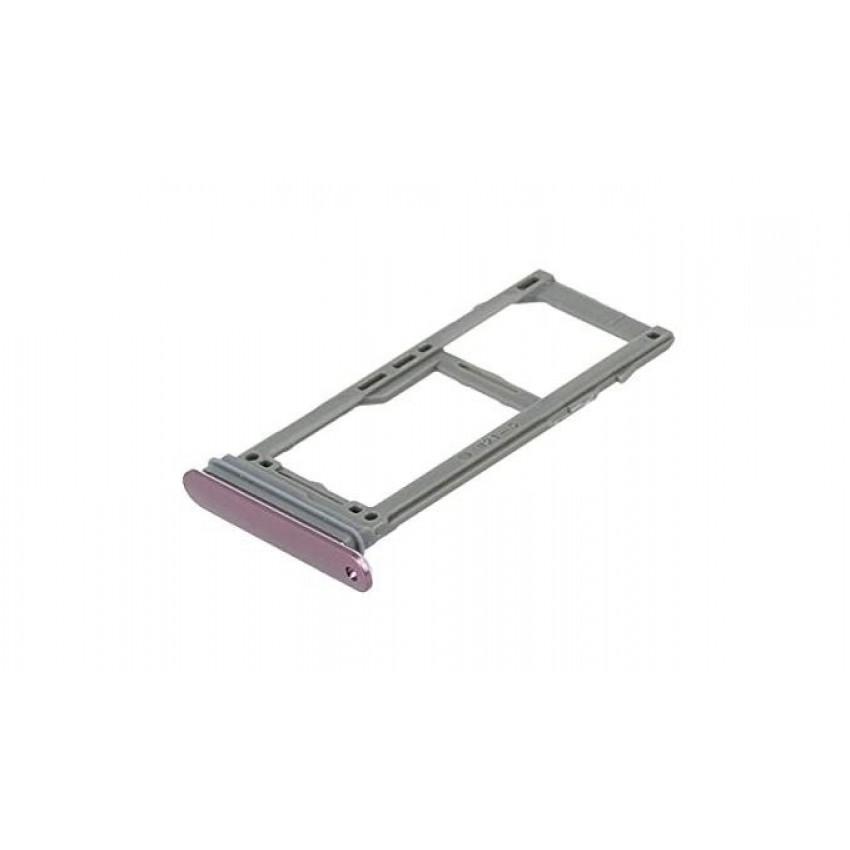 SIM card holder Samsung G960/G965 S9/S9+ violet Lilac Purple ORG