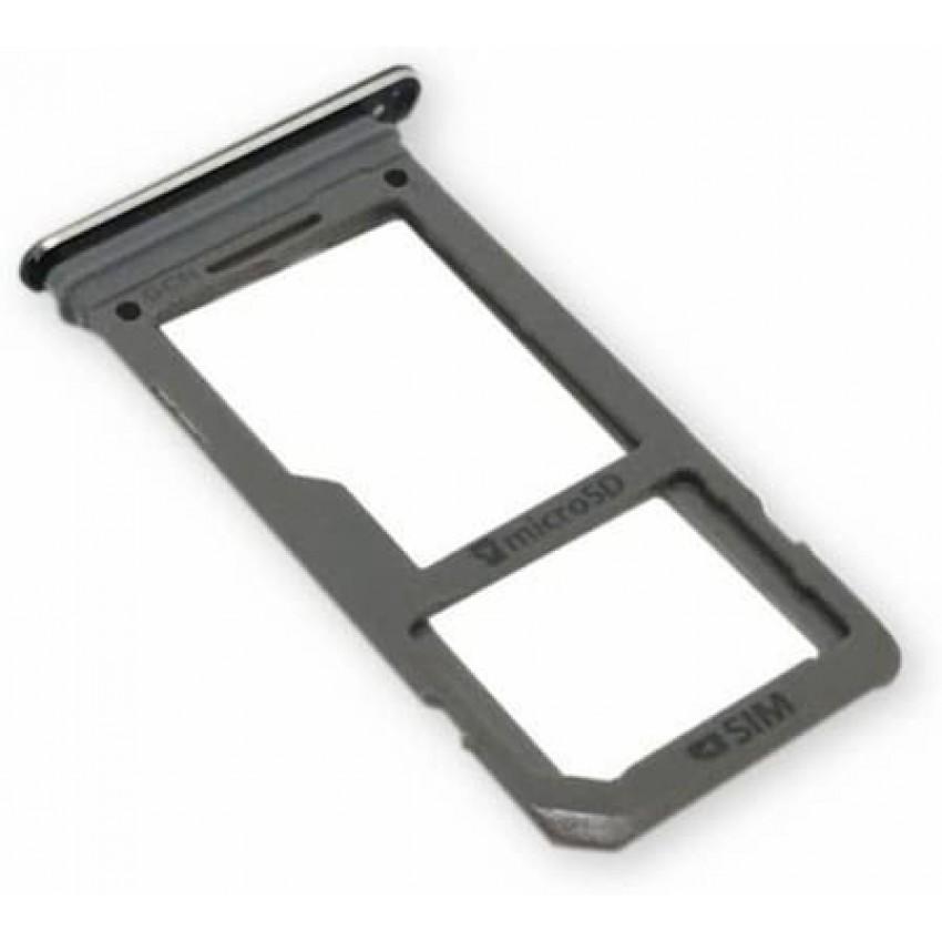 SIM card holder Samsung N950F Note 8 black ORG