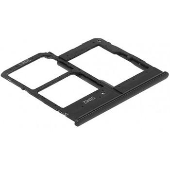 SIM card holder Samsung A202 A20e 2019 black ORG