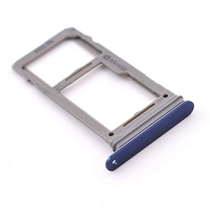 SIM card holder Samsung N960F Note 9 blue ORG